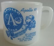 Apollo 11 Nasa Man On The Moon Vintage Federal Glass Coffee Mug July 20 1969