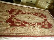 Fabulous 72x48 Handmade Petit Point Floral Tapestry