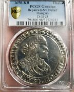 1650 Kb Hungary Silver Thaler. D-3198 Pcgs Xf Detail. Extremely Rare