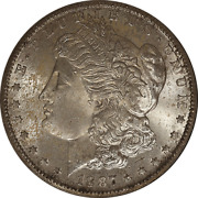 1887-s Morgan Silver Dollar Ngc Ms64 Redfield Collection Very Pq Nice Strike