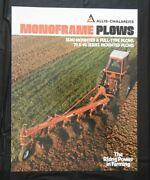1979 Allis-chalmers Semi-mounted And Pull-type Plows 70 And 80 Series Brochure Nice
