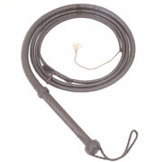 Indiana Jones 6 8 10 12 Feet 8 Strands Brown Cowhide Real Leather Bullwhip