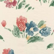 Modern Designer Kimiko Floral On White Flowers Wall Cover Wallpaper Double Rolls