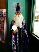 Life Size Animated Talking Wizard With Crystal Ball