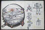 L. Nelson Attributed To Drawing Killer Robot Arena Wam