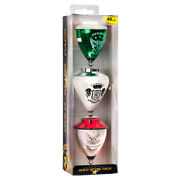 Trompos Space - Gold Star Spin Top Gift Pack - 3 Bearing Tops Colors Vary