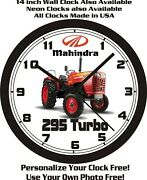 Mahindra 295 Turbo Tractor Wall Clock-free Usa Ship