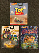 New Hot Wheels Toy Story Rc Car Beatles Yellow Submarine And Mystery Machine Set