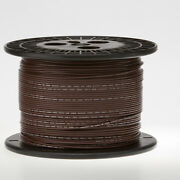 14 Awg Gauge Solid Hook Up Wire Brown 1000 Ft 0.0641 Ul1007 300 Volts