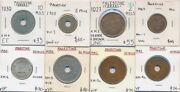 Palestine 1927-42 British Administration 1 Mil To 50 Mils 8 Coin Collection