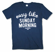 Lionel Richie Easy Like Sunday Morning 2016 Blue T Shirt New Official Merch