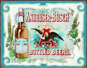Anheuser Busch - Bottled Beers Tin Sign, 16 W X 12.5 H