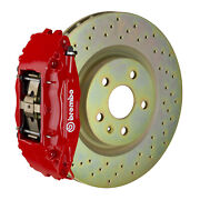 Brembo Gt Bbk For 05-14 Mustang V6 Excl. Non-abs   Front 4pot Red 1b4.8001a2