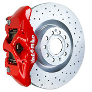 Brembo Gt Bbk For 09-17 Cc 2.0t / Vr6   Front 4pot Red 1s4.8002a2