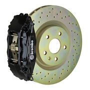 Brembo Gt Bbk For 05-14 Mustang V6 Excl. Non-abs | Front 4pot Black 1b4.8001a1