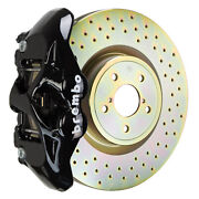 Brembo Bbk For 15-19 Wrx Excl. Models W/ Electronic Front 4pot Black 1s4.6002a1