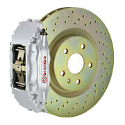 Brembo Gt Bbk For 05-14 Mustang V6 Excl. Non-abs   Front 4pot Silver 1b4.8001a3