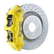 Brembo Gt Bbk For 16-19 Camaro Lt   Front 6pot Yellow 1l4.8018a5