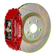 Brembo Gt Bbk For 05-14 Mustang V6 Excl. Non-abs   Front 4pot Red 1b5.8001a2