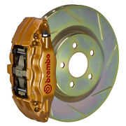 Brembo Bbk For 15-19 Wrx Excl. Models W/ Electronic | Front 4pot Gold 1e5.6003a4