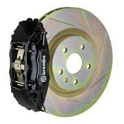 Brembo Gt Bbk For 05-14 Mustang V6 Excl. Non-abs   Front 4pot Black 1b5.8001a1