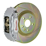 Brembo Gt Bbk For 05-14 Mustang V6 Excl. Non-abs   Front 4pot Silver 1b5.8001a3
