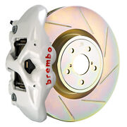 Brembo Bbk For 15-19 Wrx Excl. Models W/ Electronic Front 4pot White 1s5.6002a6