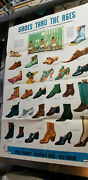 Vintage Poll Parrot Shoes Poster Sign Shoes Thru The Ages Red Goose Weather Bird