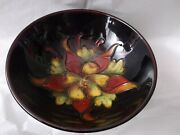 Vintage Moorcroft Pottery Cobal Blue Columbine 5 1/2 Diameter Small Footed Bowl