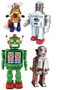 Vintage Mechanical Robot Tin Toy Collectable Moving Tinplate Replica Retro Gift