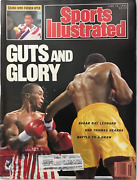 Sugar Ray Leonard And Thomas Hearns Unsigned Sports Illustrated June 19 1989