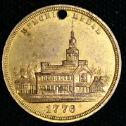 Memorial Medal Struck Within The International Exhibition 1876 Lustrous