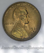 1c One Cent Penny 1936 D Ms66 Rd Ngc Lincoln Wheat Old No Line Fatty Holder