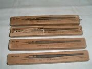 4 Antique In Orig Boxes A.b.dick Stylus Pens For Cutting Wax Mimeo Stencils