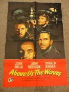 Above Us The Waves 1955 John Mills Ralph Thomas British 27x41 Poster N7527