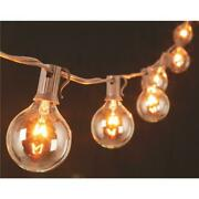Gerson 10 Ft. 10-light Sparkling Clear Globe String Lights With Brown Cord