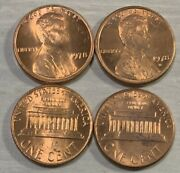 1978-p And 1978-d Lincoln Memorial Penny Uncirculated 2 Us Coins
