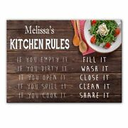 Melissaand039s Kitchen Rules - Glass Cutting Board / Worktop Saver - Gift For Melissa