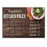 Magdalenand039s Kitchen Rules - Glass Cutting Board / Worktop Saver - Gift For Magdal