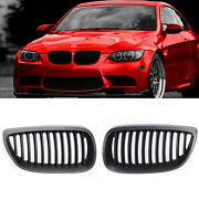 Matte Black Front Kidney Grill Grille For Bmw E92 E93 M3 Style 328i Coupe 07-10