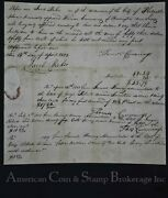 Obsolete Receipt Promissory Note Signed By Thmoas Cummings And Jacob Baker Rare