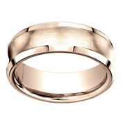 14k Rose Gold 7.50 Mm Comfort-fit Menand039s Wedding Band Ring Sz-12