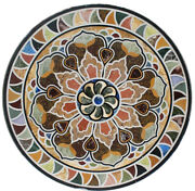 42 Black Marble Dining Table Top Decorative Pietra Dura Art For Home Furniture