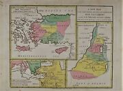 Old Antique Map Middle East Cyprus Crete 1808 Engraving By Vernor Hood Sharpe