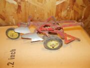 New Holland Red Yel 2 Bottom Pull Type Plow Vintage Tru Scale Toy 1/16 Original