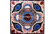 Marble Collectible Cafeteria Table Top Stone Creative Inlaid Mosaic Decor H5635