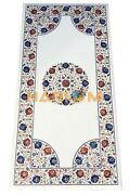 2and039x4and039 Marble Dining Table Top Fine Multi Mosaic Floral Inlaid Garden Decor W092