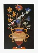4and039x2and039 Marble Dining Table Top Rare Flower Marquetry Inlaid Beautiful Decor E500