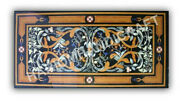 5and039x3and039 Marble Black Rectangle Dining Table Top Collectible Inlay Home Decor E989d
