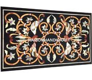 Birds With Floral Interior Marble Dining Table Top Precious Inlay Art Decor M331